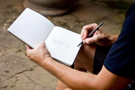 hand draw: hand for draw and sketch Stock Photo