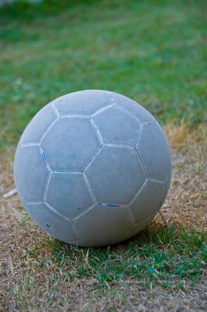 futsal: old futsal  on  dried grass