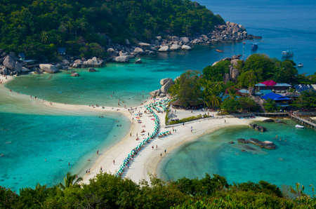 nangyuan: beautiful beach KOH NANGYUAN island in Surat Thani Thailand