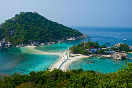 beautiful beach KOH NANGYUAN island in Surat Thani Thailand