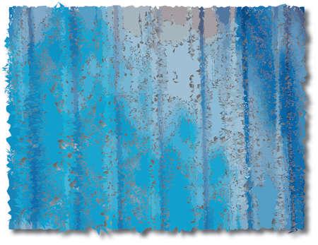abstract art on zinc plate