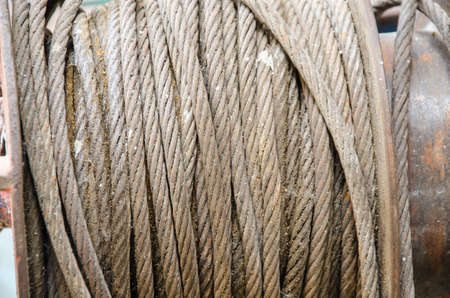 special steel: old dirty metal wire for construction