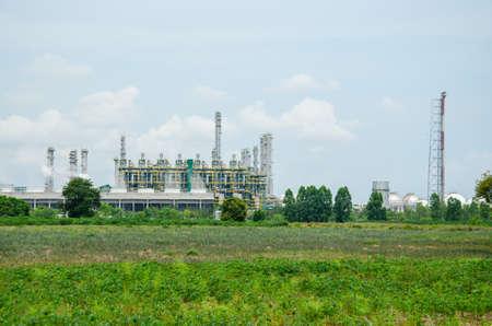 petrolium: oil refinery plant for petroleum industrial Editorial