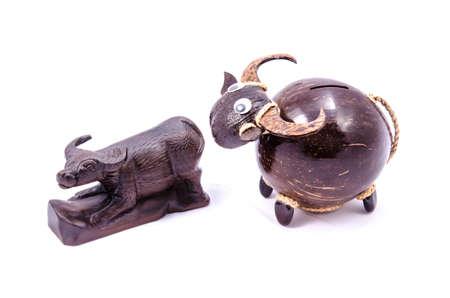 buffalo art handmade from wood