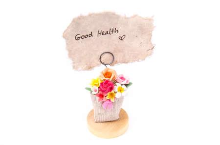 buena salud: buena salud de la palabra en el papel marr�n