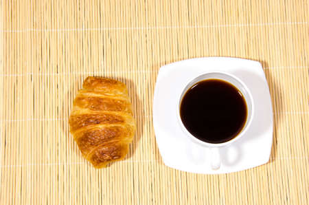black coffee with toast