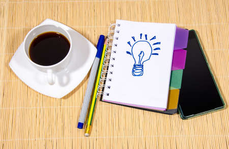 drink black coffee get idea Stock Photo