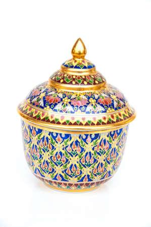 china ware porcelain on white background