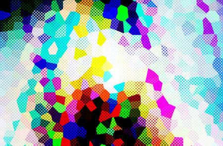 abstract  multicolor  color background with crystallise Stock Photo