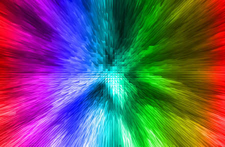 three dimension: abstract  multicolor   background with three dimension