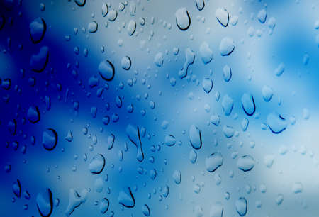 refreshed: abstract blue  color  background   with  drop water Stock Photo