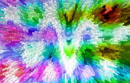 abstract multicolor background with motion block blur Stock Photo
