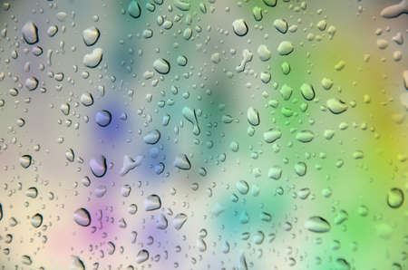 greem: abstract multicolor  background with drop water