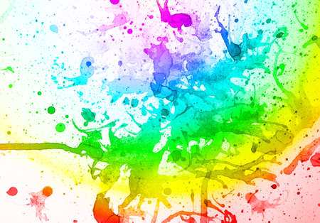abstract  multicolor   background from water color on old paper