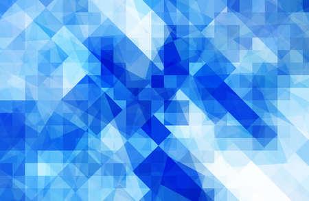 arte moderno: Resumen de fondo azul y la onda digital con patrón cuadrado unsymmetry
