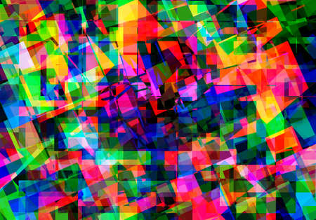 colour splash: abstract  multicolor background with crystal pattern Stock Photo