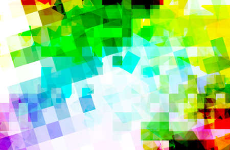 multi color: abstract multi color background with square geometric  pattern