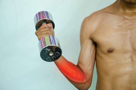 elbow pain: fitman arm and elbow pain  injury from exercise