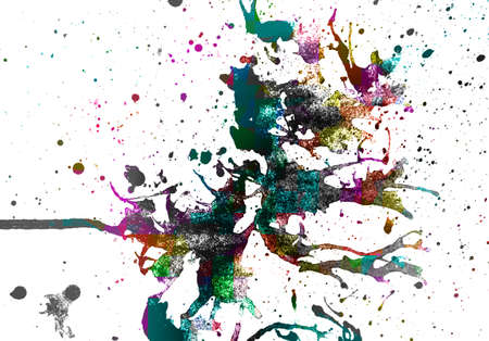 fashion art: abstract  multicolor    background   with crystal pattern style Stock Photo