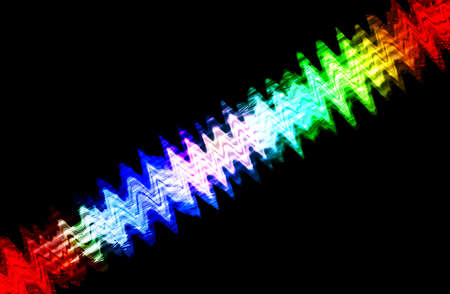 flicker: abstract  multicolor    with motion blur on black background