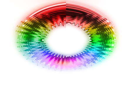 flicker: abstract  multicolor with motion blur on white  background