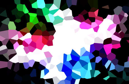 abstract multicolor illustration template background copy space with crystal style Stock Photo