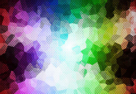abstract  multicolor illustration background with crystal style for template