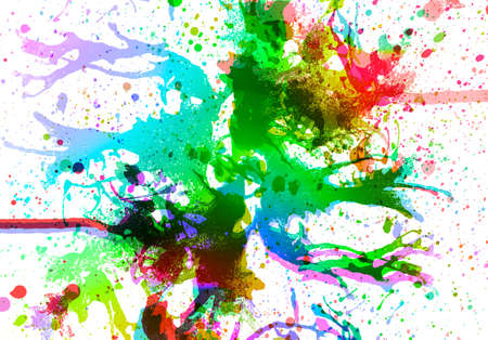 abstract multi color background from water color