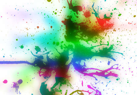 abstract multi color   background from water color Stock Photo