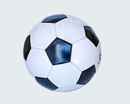 old black and white soccer on white background Stock Photo