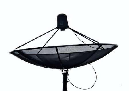 satelite: sattelite for home communication on white background