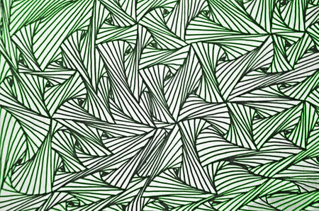 green pencil art line for pattern background