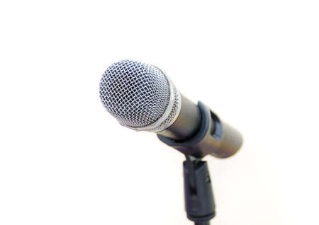 wireless microphone on white background