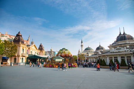 Everland park Korea 2018-22-october unidentified tourist travel in Everland park    famous place in Korea in 2018-22-october , Korea