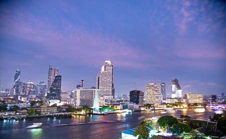bird eye view of Bnagkok Metropolitan and river Zdjęcie Seryjne