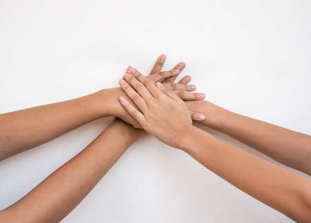 hand of children for unity and together