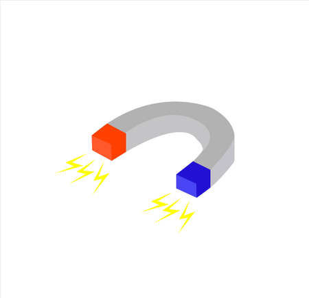 magnet vector with electricity power for education and technology