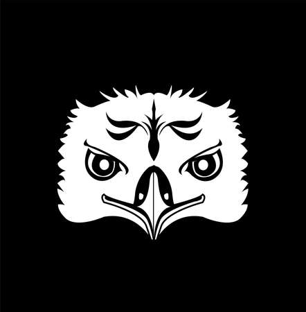 animal head vector of eagle logo and hawk head with design of creative mascot