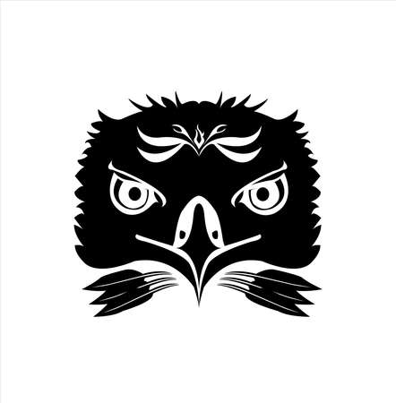 animal head vector of eagle logo and hawk head with design of creative mascot