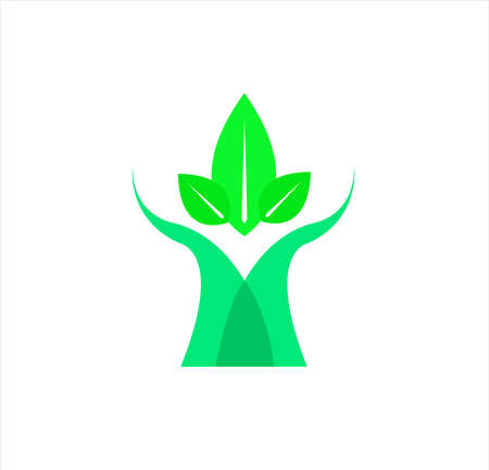 company logo of tree medical and leaf design with clinic concept and health business for herbal technology Vettoriali