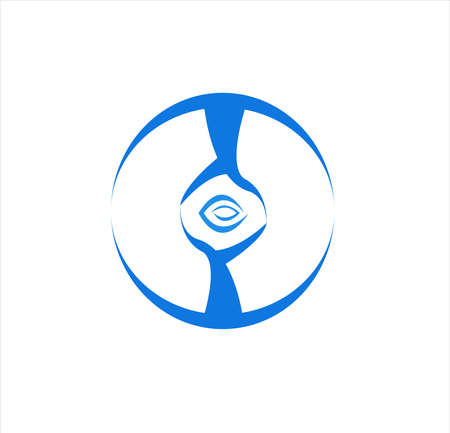 company logo of blue medical with clinic concept and health business for research and herbal technology