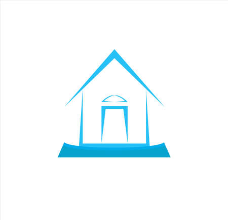 house and building logo of architecture estate business for residential, furniture, finance, project and property company