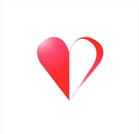 vector of playing card with aces symbol of heart for gamble game and casino leisure