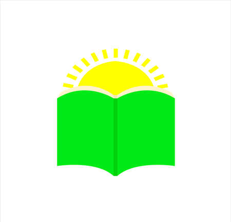 book vector logo of education and university for intelligent library and school