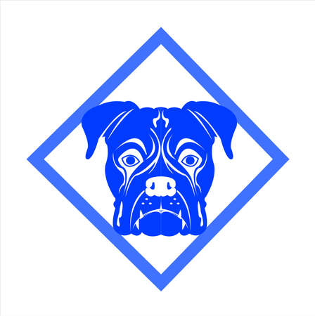 dog vector of puppy logo with background of cartoon pet