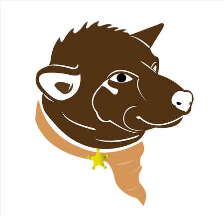 dog vector of puppy logo with background of cartoon pet Archivio Fotografico - 121765680