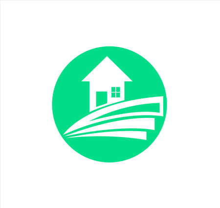 house logo with property vector of building cottage and architecture estate for business 向量圖像