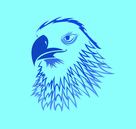 bird animal vector of eagle logo and falcon head with hawk design of creative mascot Logos