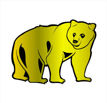 animal vector of bear logo and grizzly with wild roar and carnivore logo 向量圖像