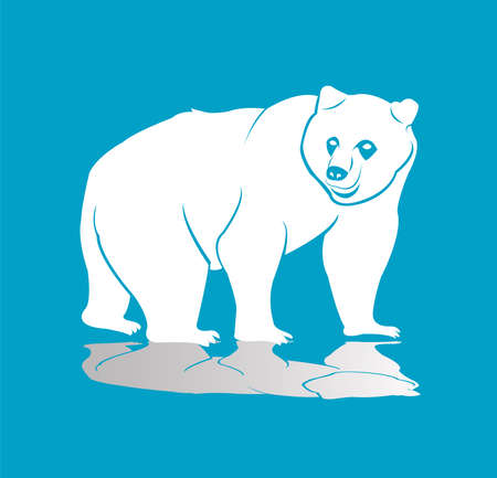 animal vector of bear logo and grizzly with wild roar and carnivore logo Illustration